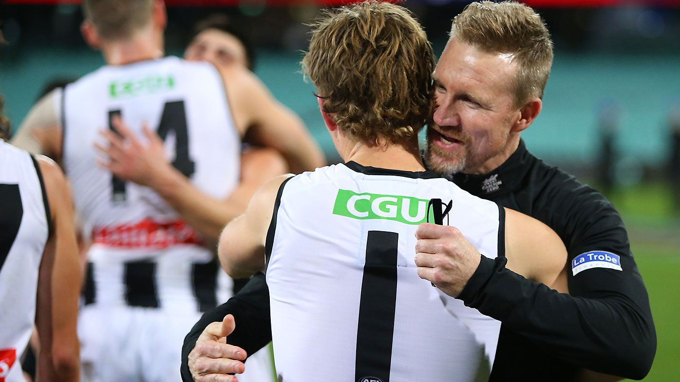 Collingwood gives Nathan Buckley a 'fairytale' finish with inspiring win over Melbourne