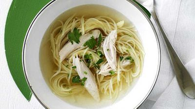 "<a href=""http://kitchen.nine.com.au/2016/05/19/15/54/chicken-noodle-soup"" target=""_top"">Chicken noodle soup</a> recipe"