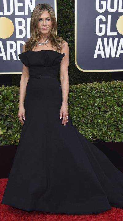Jennifer Aniston at the 2020 Golden Globes.