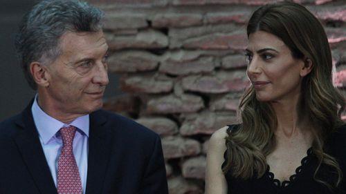 Argentina's President Mauricio Macri and wife Juliana Awada ahead of the G20 summit.