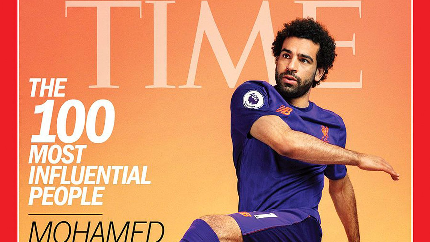 Mo Salah is on the cover of TIME