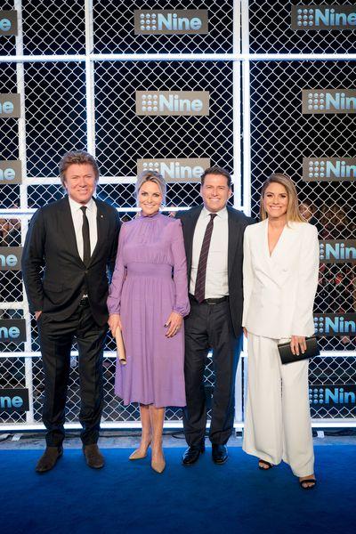 Richard Wilkins, Georgie Gardner, Karl Stefanovic and Natalia Cooper at the 2019 Nine Upfronts, Sydney, October 17, 2018