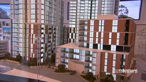 Urban development is expanding at such a rate in Westmead, the economy there will be moving at a rate faster than anywhere in the country. Picture: 9NEWS