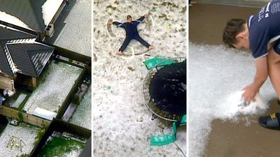 Hail and floods as wintery blast sweeps through Sydney
