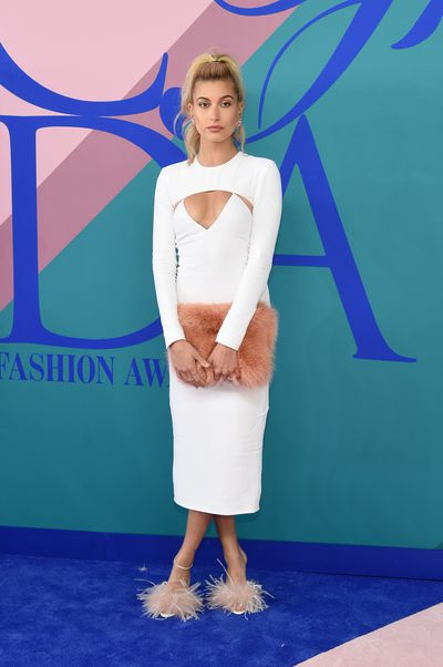 <p><strong>Loser: Hailey Baldwin in Cushine et Ochs</strong></p> <p>The dress is Real Housewives of Miami. The accessories are Sesame Street.</p>
