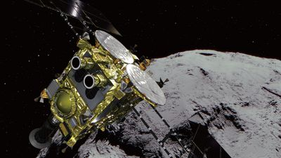 Space rovers land on asteroid