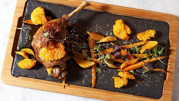 Confit duck with beer match