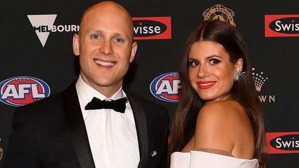Gary Ablett Jr and wife Jordan at the Brownlow Medal 2018