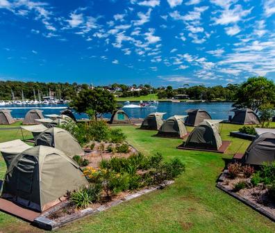 Cockatoo Island campsite, Sydney