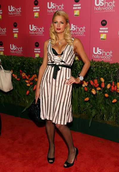 Paris Hilton arrives at the US Weekly Hot Hollywood Awards  on April 26, 2006 in Los Angeles