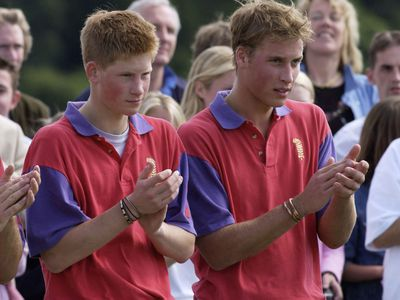 Prince Harry and Prince William, 2001
