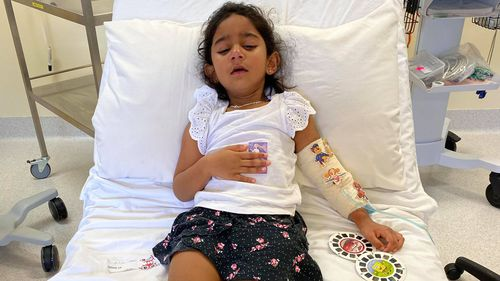Tharnicaa Biloela is being evacuated to Perth after being hospitalised on Christmas Island.
