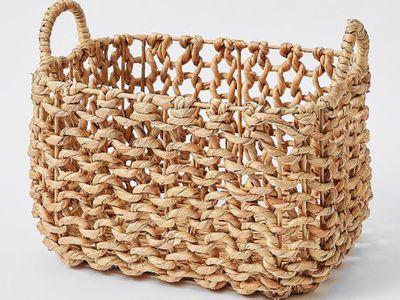Open Weave Rectangular Storage Basket (Medium)