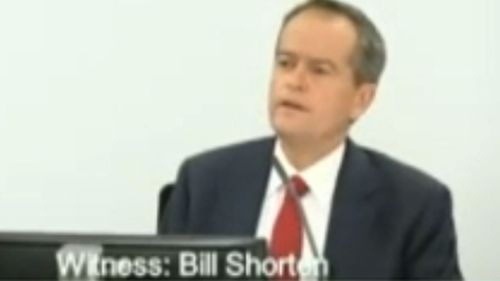 Bill Shorten appearing before the commission.