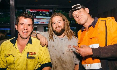 Since being released from prison, Mr Feetham, right, worked as a tradie while trying to turn his life around.