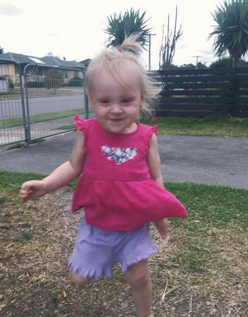 20-month-old Hayley Rose died of a heart attack last month. Picture: Supplied