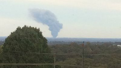 The smoke was clearly visible from the top of Comleroy Road in Kurrajong. (Supplied)