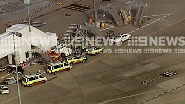 An odour was detected on board the flight. Picture: 9NEWS