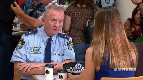 Police said meeting with locals for coffee is a good way to learn more about each other. (9NEWS)