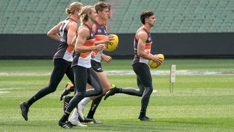 GWS Giants train in the off-season