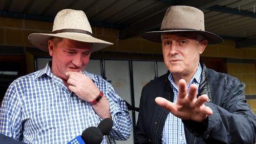 Deputy Prime Minister Barnaby Joyce and Prime Minister Malcolm Turnbull. (AAP)