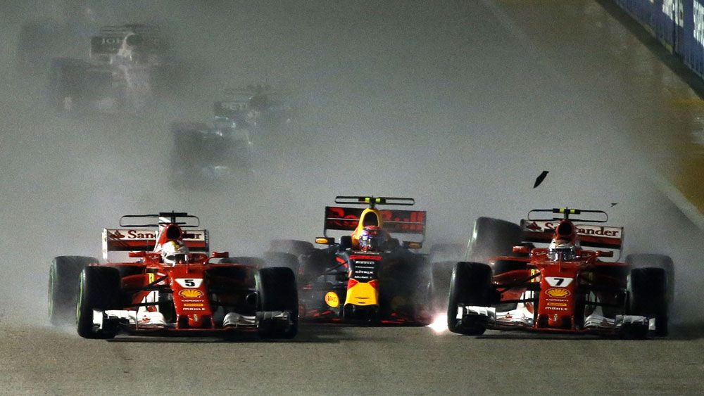 Singapore Grand Prix crash.