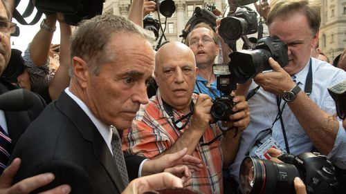 US Congressman Chris Collins, Republican from New York leaves Federal Court following his arraignment on insider trading charges.