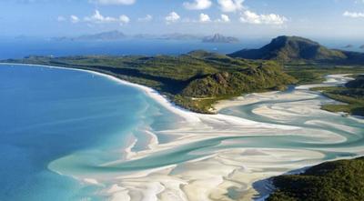 2. Whitehaven Beach – Whitsunday Islands, Australia