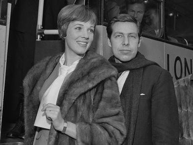 Julie Andrews pictured with her first husband Tony Walton
