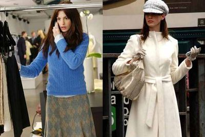Anne Hathaway goes from shab to chic as a wannabe journalist working a hardcore fashion job fresh out of college. Sure, she may have lost cute Adrian Grenier as a boyfriend, but we're much more interested in her gorgeous new wardrobe and fabulous fashionista social life.