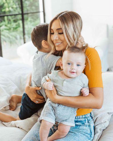 Nadia Bartel and her two sons