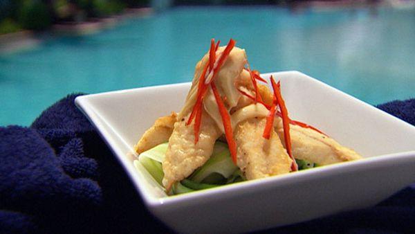 Sichuan crispy mackerel with soy mayonnaise