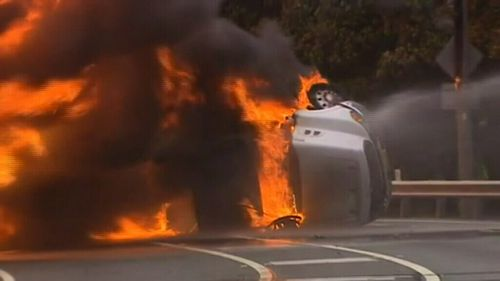 Mr Day was going 83km/h when he reached the round-a-bout where the accident occurred. (9NEWS)