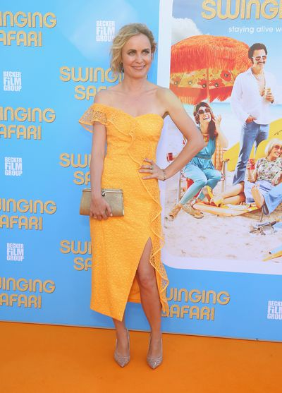 Radha Mitchell at the <em>Swinging Safari</em> premiere in Sydney, Australia.&nbsp;
