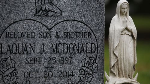 Grave site of slain teenager Laquan McDonald.