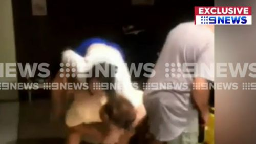 The accident unfolded during an Australia Day party. (9NEWS)