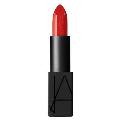 """<a href=""""http://mecca.com.au/nars/audacious-lipstick/V-019305.html"""" target=""""_blank"""">NARS Audacious Lipstick in Lana, $48.</a>"""
