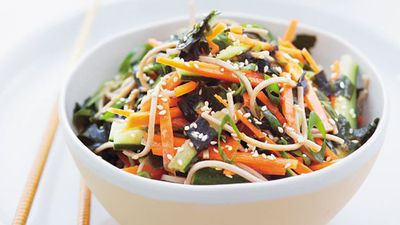 "<a href=""http://kitchen.nine.com.au/2016/05/20/11/24/soba-salad-with-seaweed-ginger-and-vegetables"" target=""_top"">Soba salad with seaweed, ginger and vegetables</a>"