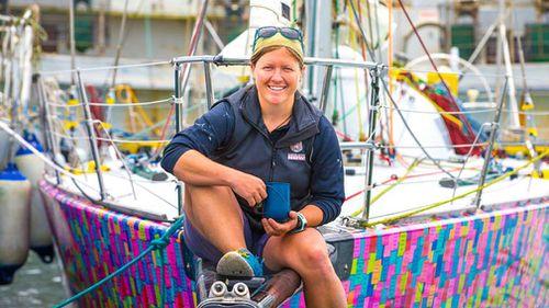 Aussie sailor Lisa Blair. (Facebook/Koop's Pics)