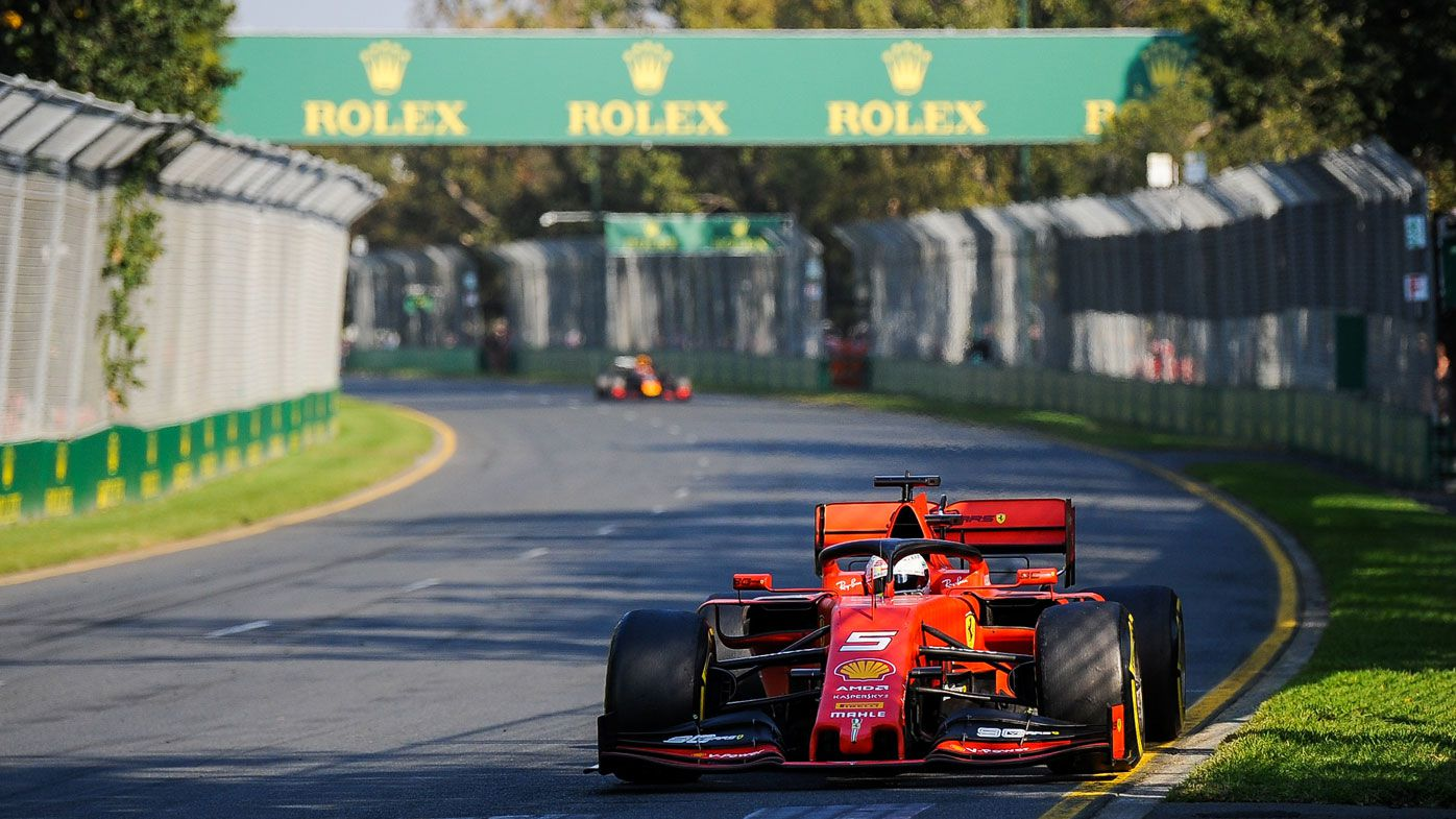 2019 - Sebastian Vettel racing for Ferrari at the time during the Melbourne Grand Prix. (Getty)