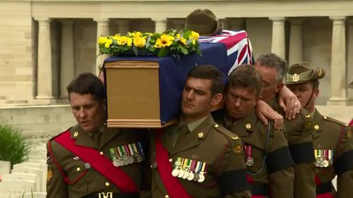 The soldiers were given funerals at the Pozieres British Cemetery. (9NEWS)