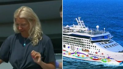Woman survives 10 hours in ocean after ship fall