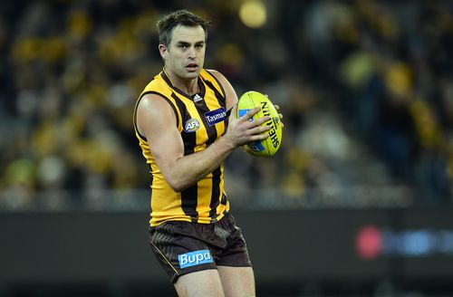 Former Hawthorn Hawks player Brian Lake is accused of stalking, filming and recording a woman's private conversations as well as assault, property damage, trespass and bail breaches. (AAP Image/Julian Smith)