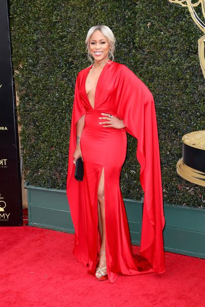 Actress and singer Eve in custom Christian Siriano
