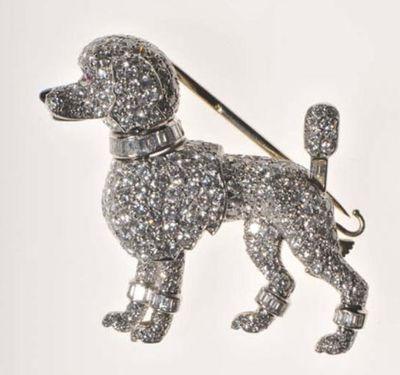 Cartier poodle brooch