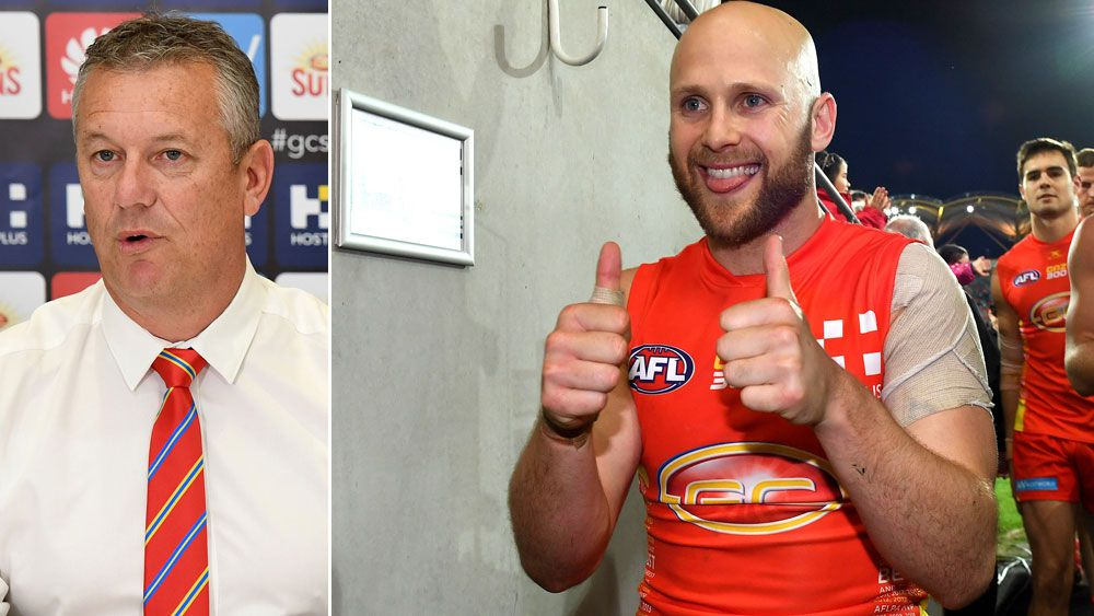 AFL: Gold Coast Suns CEO Mark Evans 'slaps' reporter over Gary Ablett question