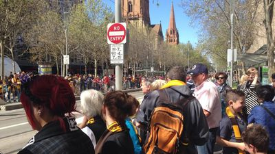 Melbourne put on a fine day for the Grand Final Parade ahead of the AFL decider tomorrow. (9NEWS)