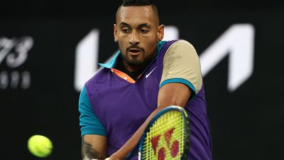 Nick Kyrgios dials in the backhand