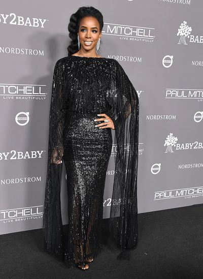 Singer Kelly Rowland at the 2018 Baby2Baby Gala in Los Angeles, November, 2018