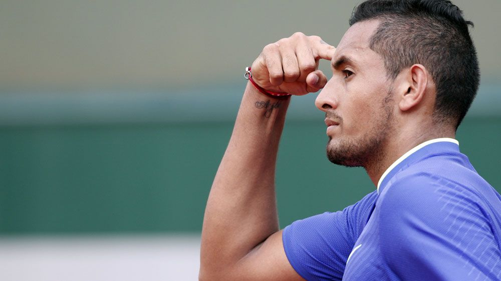 Kyrgios into French Open second round
